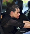 Evi & Baby Kali Depart LAX, Oct 7 - evangeline-lilly photo