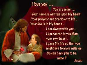 Jesus wallpaper called I love you