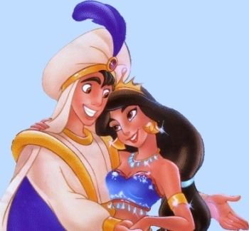 Aladdin and Jasmine wallpaper entitled Jasmine and Aladdin