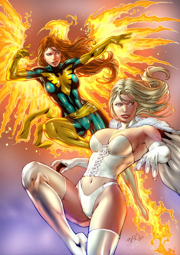 Jean Grey and Emma Frost