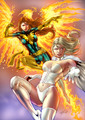 Jean Grey and Emma Frost - x-men fan art