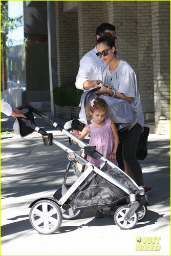 Jessica, Cash, Honor & Haven out in West Hollywood
