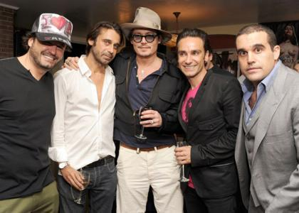 Johnny Depp's Artsy Night at chateau, schloss Marmont
