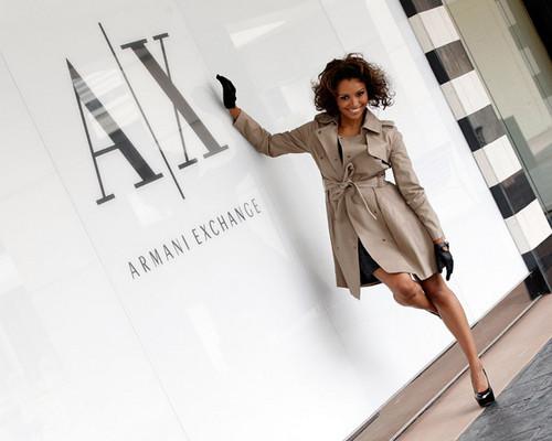 Kat Visiting Armani Exchange Lenox Square in Atlanta
