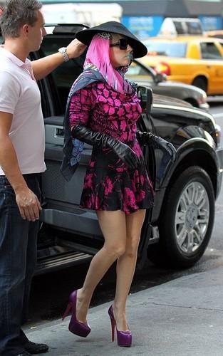 Lady gaga in NYC Oct. 8