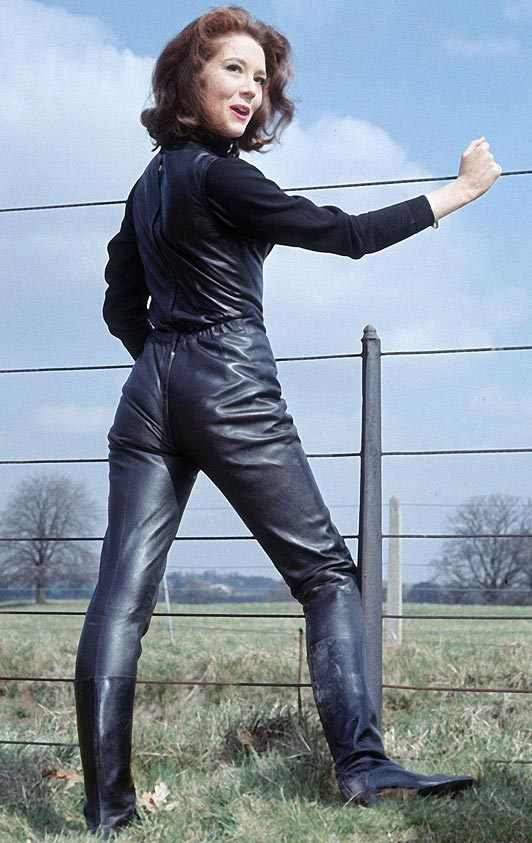 Leather Clad Emma Peel