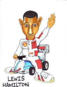 Lewis Hamilton Cartoon