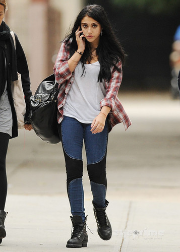 Lourdes Ciccone Leon wallpaper probably containing a hip boot called Lourdes Leon spotted out in New York, Sep 20