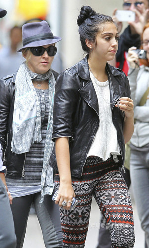 Lourdes Ciccone Leon wallpaper containing a business suit called Lourdes and Madonna out in Manhattan, Oct 1