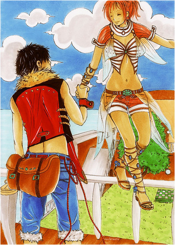 monkey d. luffy wallpaper probably with animê called Luffy x Nami