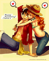 Luffy x Nami - monkey-d-luffy photo