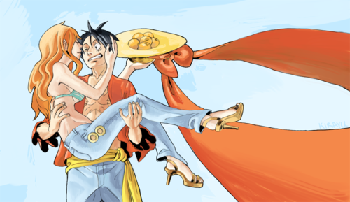 monkey d. luffy wallpaper probably with animê titled Luffy x Nami