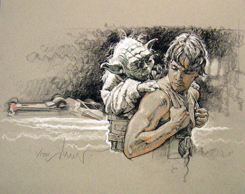 Luke@Yoda by Drew Struzan