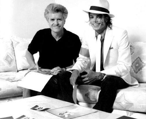 Michael Jackson and artist Kent Tvitchel