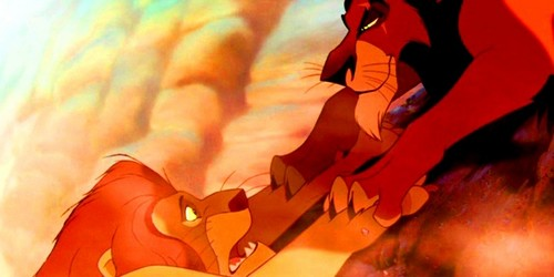 The Lion King wallpaper containing anime called Mufasa & Scar