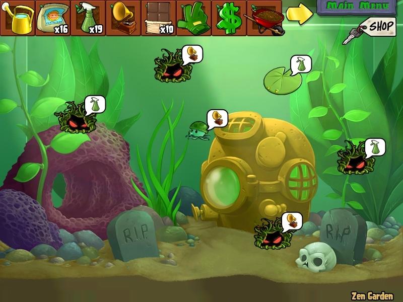 Plants vs zombies my aquarium garden