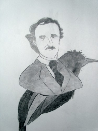 My drawing of Edgar Allan Poe