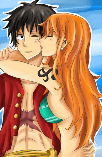 Monkey D. Luffy hình nền called Nami x Luffy