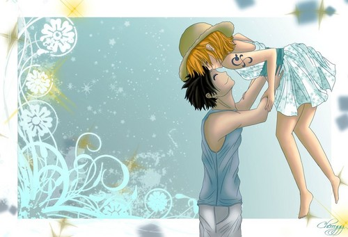 monkey d. luffy wallpaper called Nami x Luffy