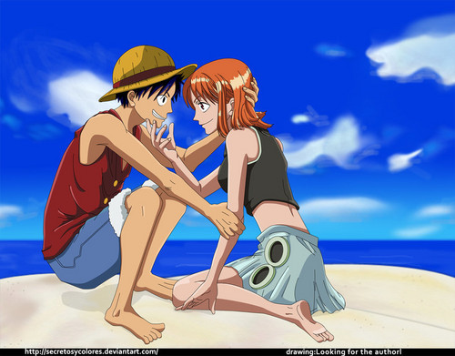 monkey d. luffy wallpaper titled Nami x Luffy