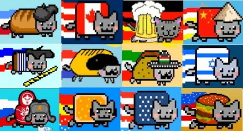 Nyan Cat Hintergrund entitled Nyan Katzen from Around the world