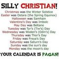 Pagan/Christian humor - comparative-religion photo