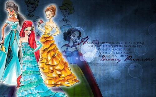Диснеевские принцессы Обои entitled Princesses ~ ♥