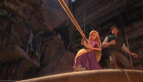 Rapunzel in action