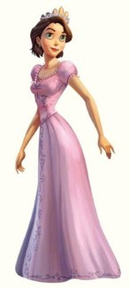 Rapunzel with short hair