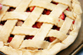 Rhubarb Pie - pie photo