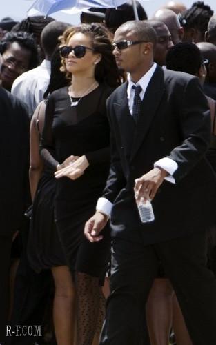 Rihanna - At a funeral in Barbados - October 08, 2011