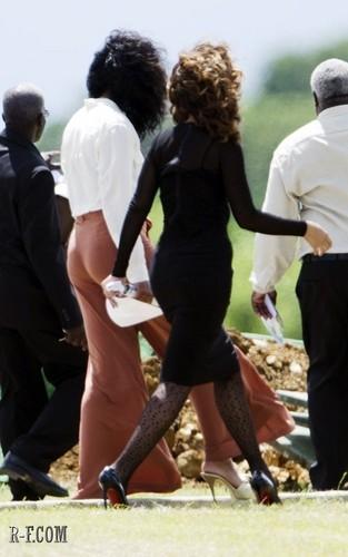 রিহানা - At a funeral in Barbados - October 08, 2011