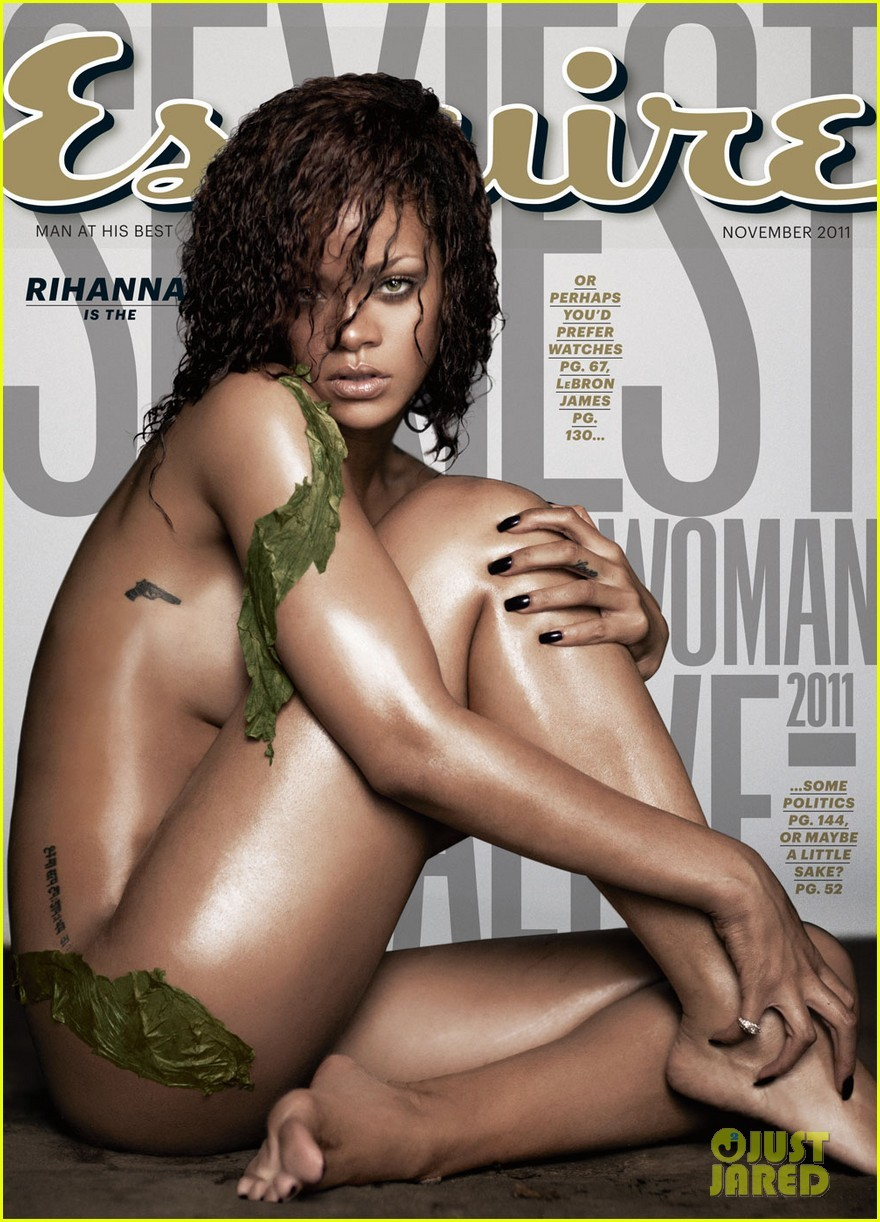 Rihanna: Nude on 'Esquire' Cover