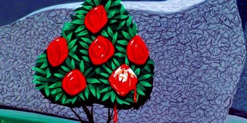 Alice in Wonderland wallpaper called Rose Bush