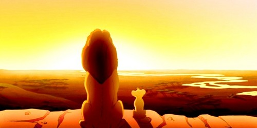 The Lion King wallpaper titled Simba & Mufasa