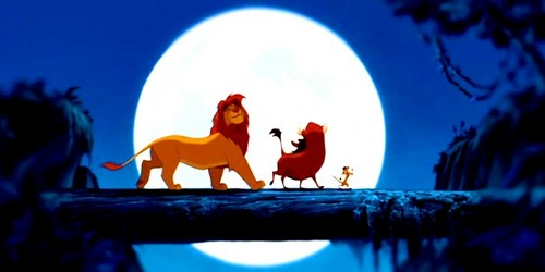 The Lion King kertas dinding called Simba, Pumbaa & Timon