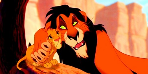 The Lion King پیپر وال titled Simba & Scar