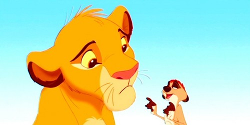 The Lion King wallpaper called Simba & Timon