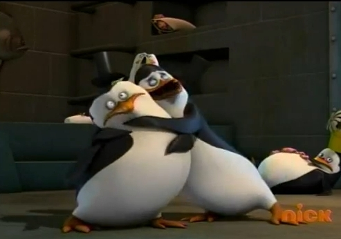 Skipper doesn`t like hugs!!!???? o.O