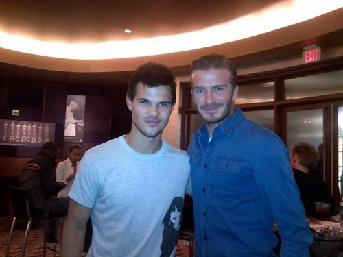 Tay and David Beckham