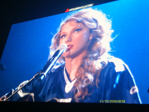 Taylor and her Cowboys jersey