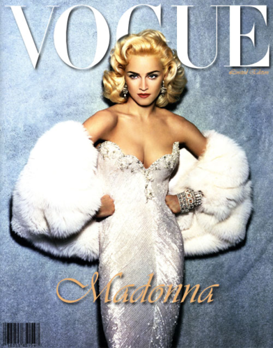 Madonna wallpaper possibly containing a fur coat titled VOGUE!!!!