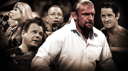 Wade Barrett,ref,Jerry Lawler,Beth Phoenix,Triple H