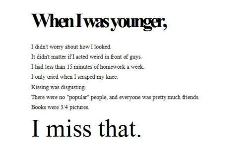 When I Was Younger.... I Miss That! 100% Real ♥