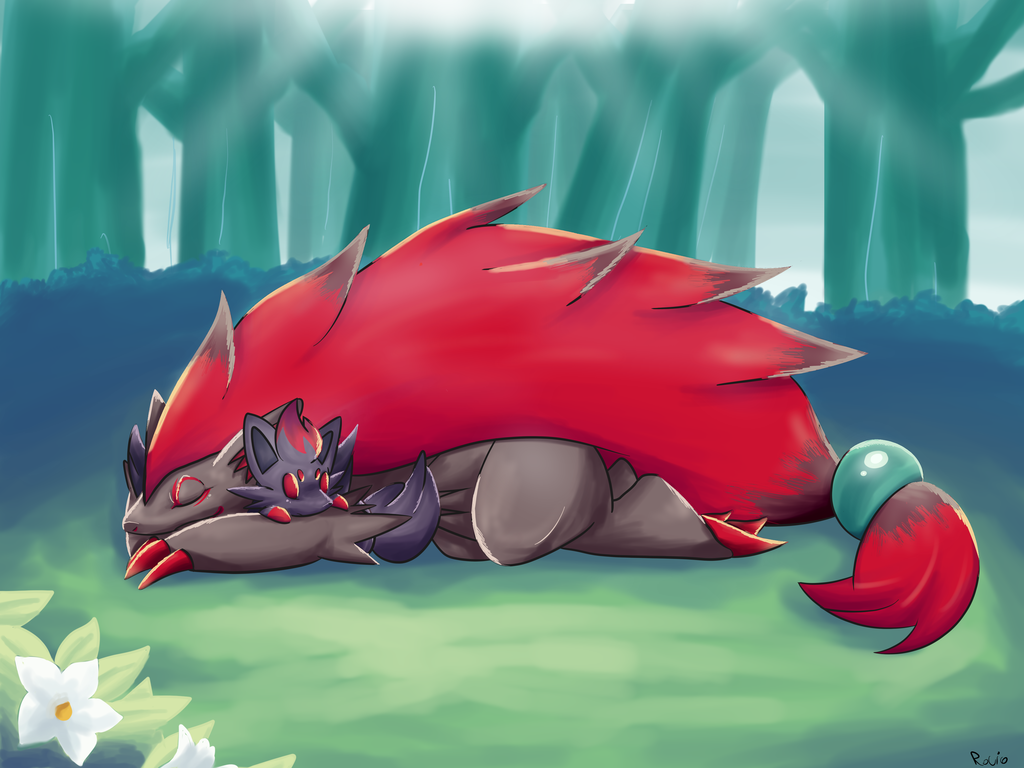 anime images zoroark and zorua hd wallpaper and background photos