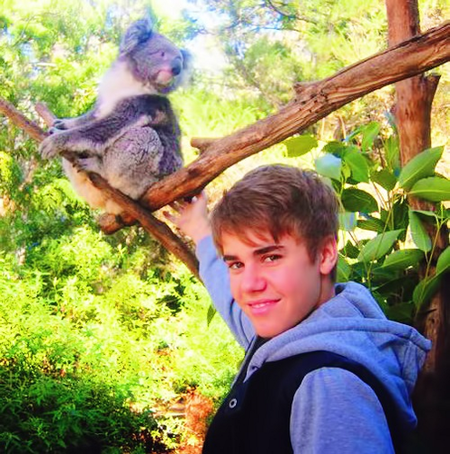 justin in the zoo :)