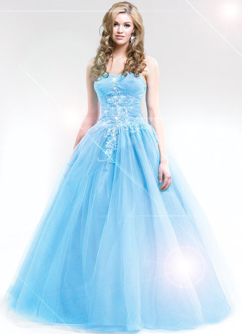 prom Light dress blue