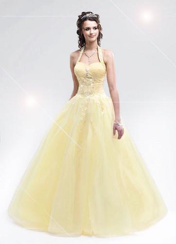 light yellow prom dress