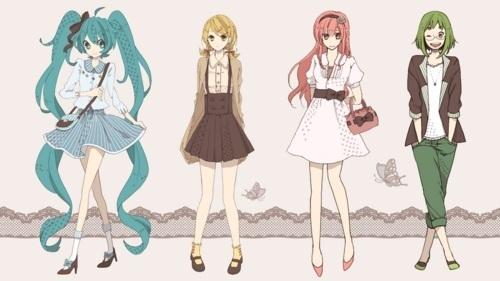 Hatsune Miku wallpaper called miku, rin, luka, gumi