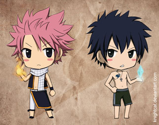 fairy tail fondo de pantalla with anime called natsu and gray